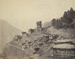 The village of Zubrung, Upper Kunawur [Kinnaur].
